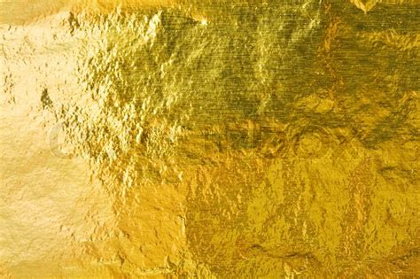 Gold Blattgold Polieren by Goldfolie Abstrakte Textur Stock Foto Colourbox
