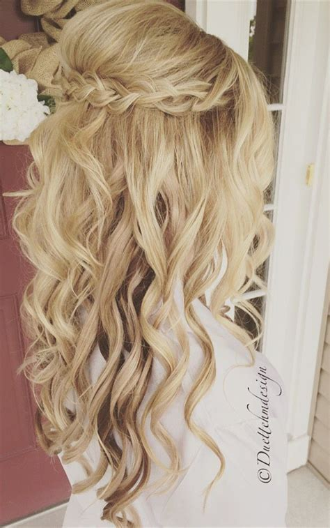 20 amazing half up half down wedding hairstyle ideas oh