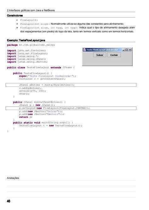 grid layout java netbeans materail para netbeans