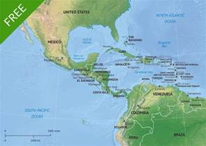 free vector map middle central america one stop map