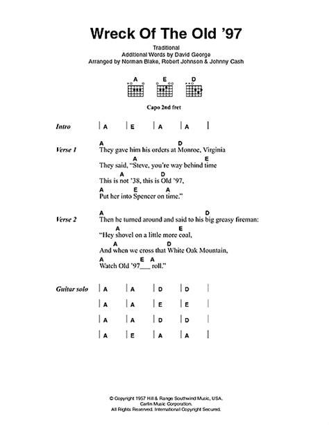 lyrics 97s wreck of the 97 sheet by johnny lyrics