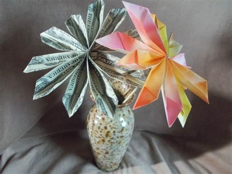 Origami Flowers Made From Money - you ll these and clever ways to give as a