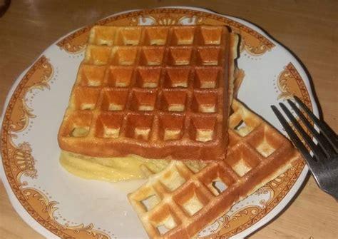 resep waffle crispy oleh ika karunia cookpad