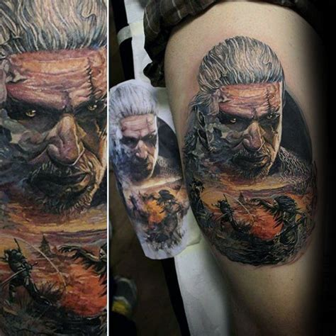 game face tattoos 34 great witcher designs ideas about