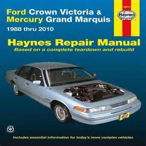 Crown Ford Service Ford Crown Repair Manual From Haynes The
