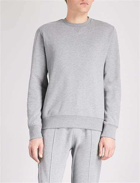grey marl pattern lyst ps by paul smith marl pattern cotton jersey