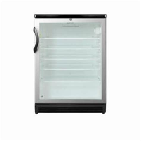 Mini Fridge Clear Door by Summit Appliance 5 5 Cu Ft Glass Door Mini Refrigerator In Black With Lock Scr600bl The Home