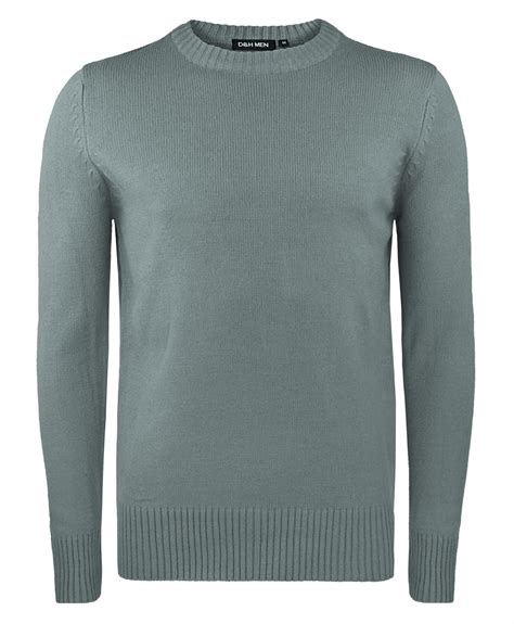 Ola Basic Knitted Crew Neck Top mens basic neck knitted jumper plain solid sweater medium knit tops ebay