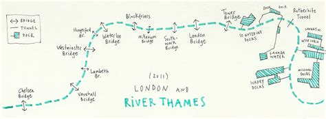 map of river thames bridges study of the thames english drawings