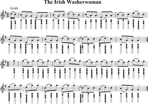 tutorial piano braveheart the irish washerwoman sheet music for tin whistle tin
