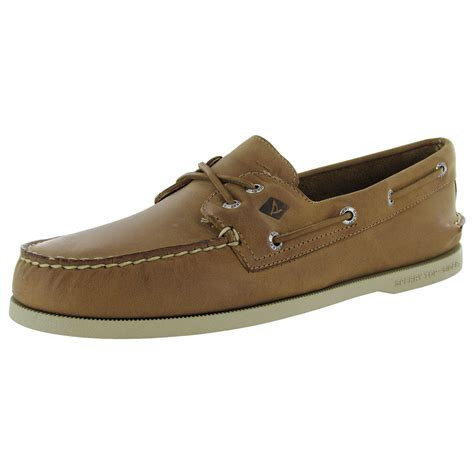 sperry mens a o 2 eye cross lace slip on moc toe boat