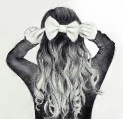 pencil drawing of hair styles of cute hair bow drawing drawings pinterest ariana