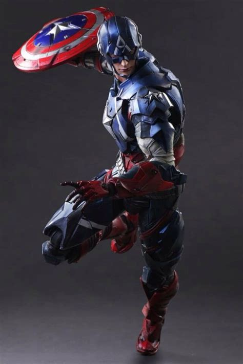 K Sq Captain America Big Size play arts captain america black widow up for order marvel news