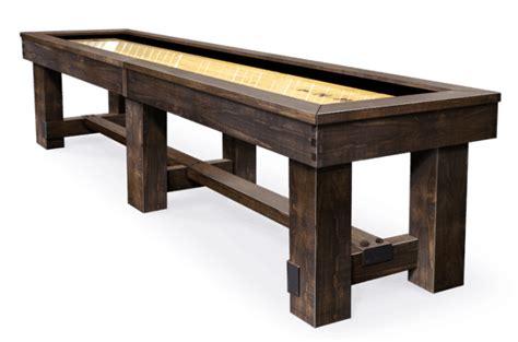 barrington 9 solid wood shuffleboard table breckenridge shuffleboard table peters billiards