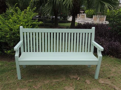 what is green bench 3 seater winawood bench in duck egg free uk delivery