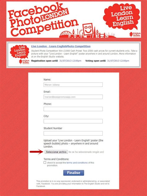 contest form configuring the easypromos registration form