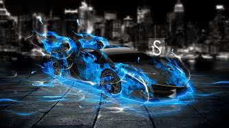 Lamborghini With Flames Blue Lamborghini Michael Soliman Flickr