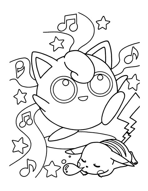 free coloring pages of pokemon jigglypuff