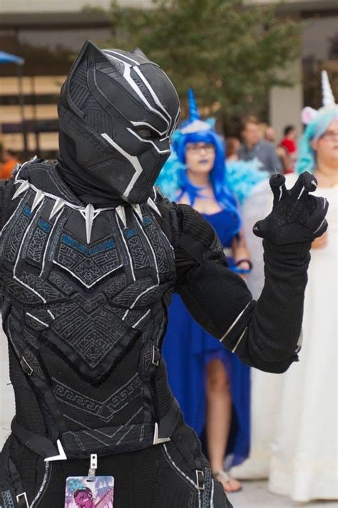 diy black panther costume photo