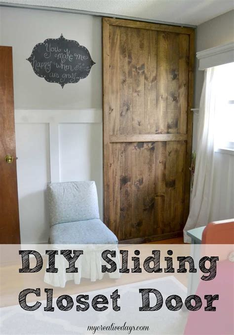Diy Closet Doors Sliding by Diy Sliding Closet Door Creative Days