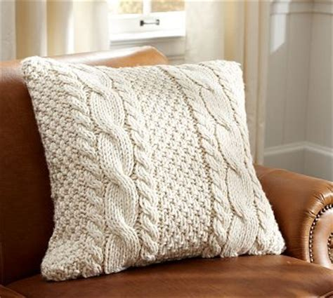 Design Ideas For Cable Knit Throw Pillow Knit Cable Pillow Cover Contemporary Decorative Pillows By Pottery Barn