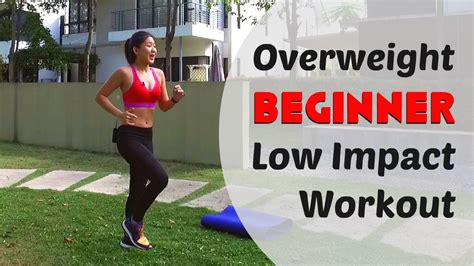 overweight beginner low impact home workout burn 300cals