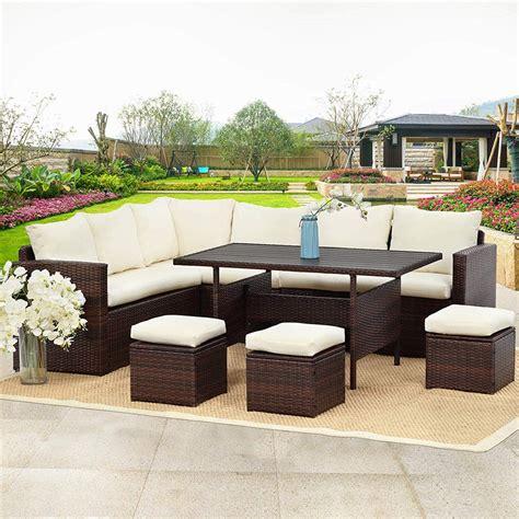pcs patio sectional furniture set wisteria lane outdoor