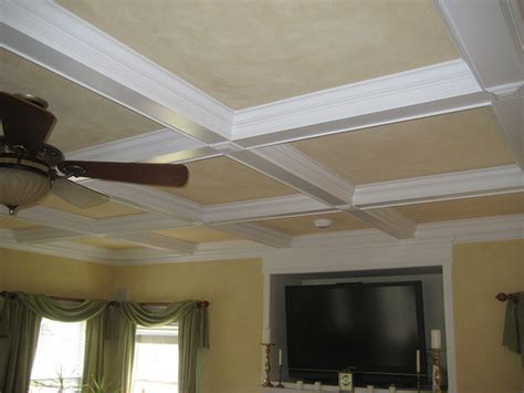 Coffered Ceiling Installation Coffered Ceiling Installation Flickr Photo