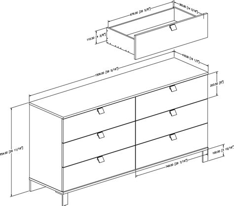 Dimensions Of A Dresser by South Shore Spark Dresser 3270010