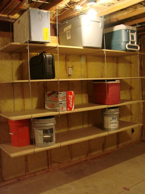 How To Hang Shelves From Garage Ceiling ceiling hanger shelves hang from joists in garage basement or storage shed ceiling hangers