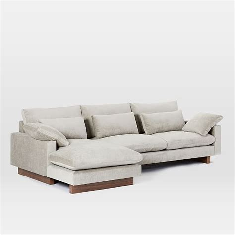west elm harmony sofa harmony down filled 2 piece chaise sectional west elm