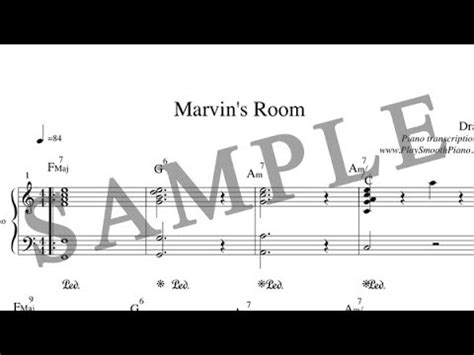 marvin s room play how to play quot marvin s room quot by on piano taught by 8thharmonic