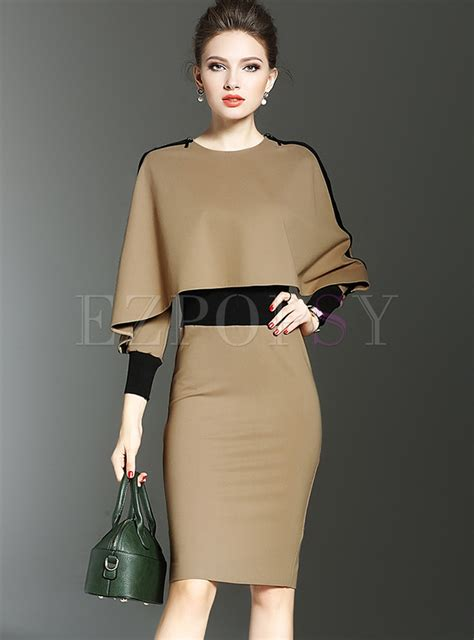 Sleeve Bodycon Dress bat sleeve bodycon dress with cape ezpopsy