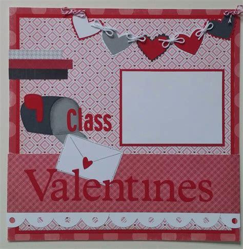 scrapbook layout valentine class valentines valentines day party premade