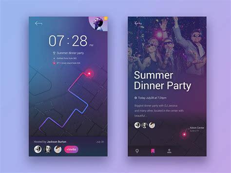design event app 10 best app ui design for your inspiration in 2017