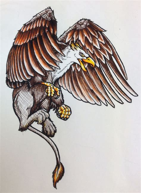 griffin tattoo flash griffin colour neotraditional
