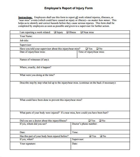 serious incident report template sle incident report 16 documents in pdf word