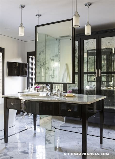 How To Hang A Vanity Mirror Hanging Bathroom Mirror Hollywood Regency Bathroom