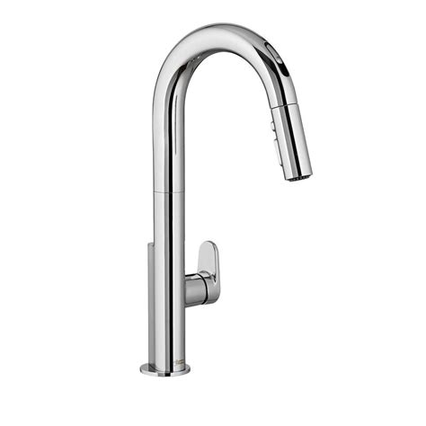 american standard pull out kitchen faucet american standard portsmouth single handle pull out sprayer kitchen faucet in polished chrome