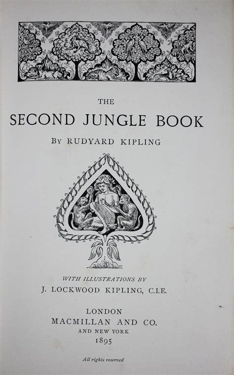 Kipling 303 By Kipling Kipling kipling r the jungle book edition second