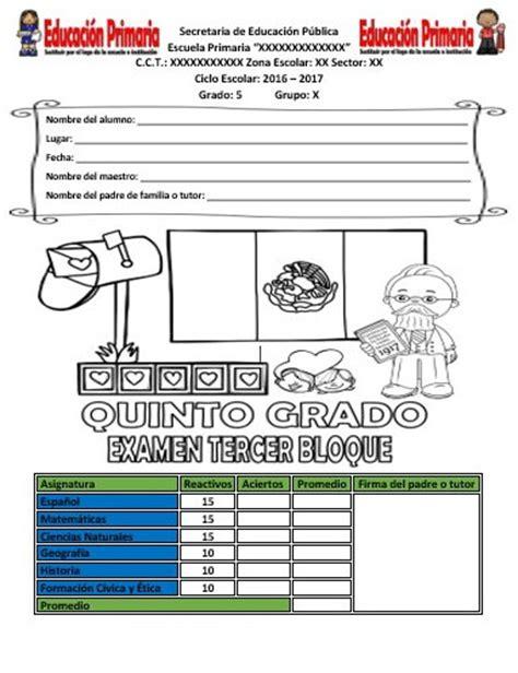 examen final preguntas abiertas quinto grado examen del quinto grado del tercer bloque ciclo escolar