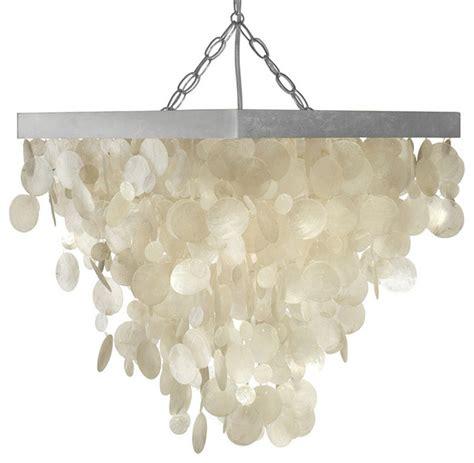Kouboo Capiz Seashell Rain Drop Pendant L View In Beachy Pendant Lighting