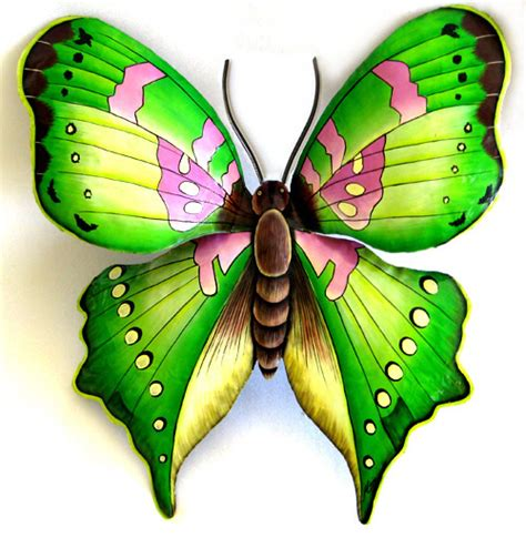 large butterfly home decor green butterfly metal wall