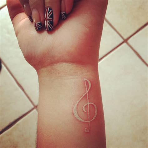 music note wrist tattoos white ink tattoos and designs page 48
