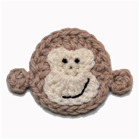 monkey applique cheeky monkey applique crochet arcade