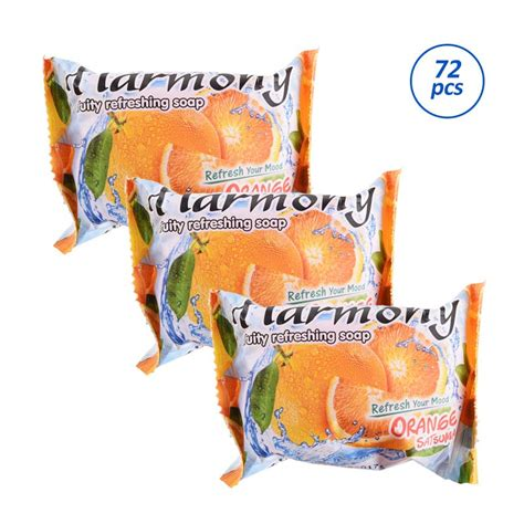 Sabun Harmony jual harmony fruity refreshing soap orange satsuma sabun batang 70 g 72 pcs harga