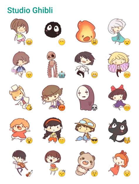 studio ghibli sticker pack telegram stickers hub collection