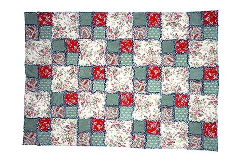 free printable rag quilt patterns easy double four patch rag quilt pattern