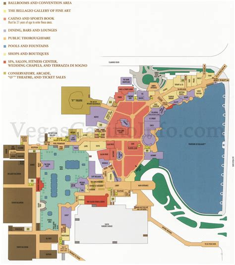 las vegas casino floor plans tout sur l hotel bellagio