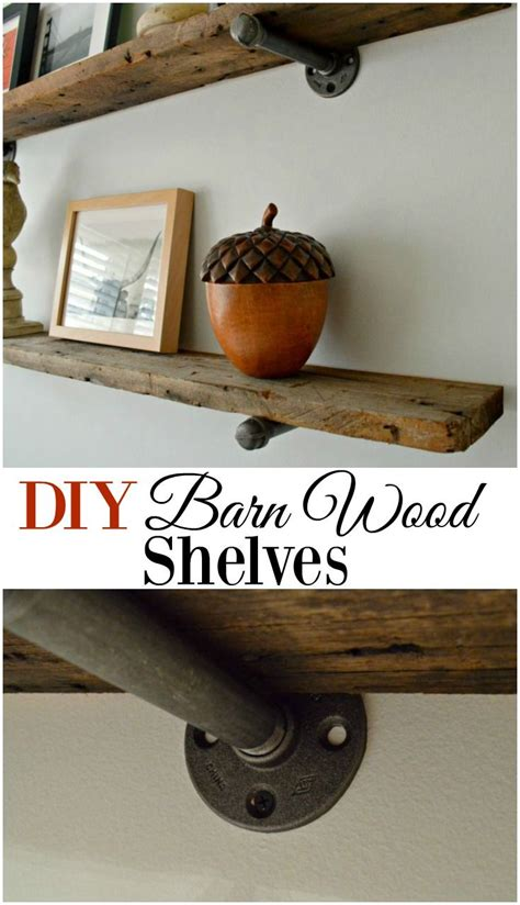 25 best ideas about barn wood shelves on wall